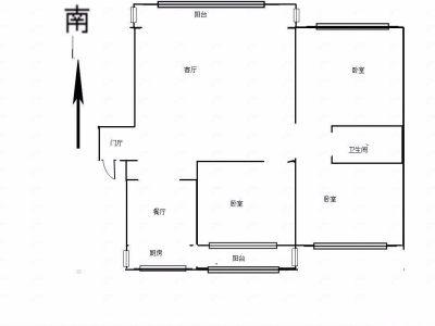 世纪花园小区 - 吉大南校 3室2厅1卫 136㎡